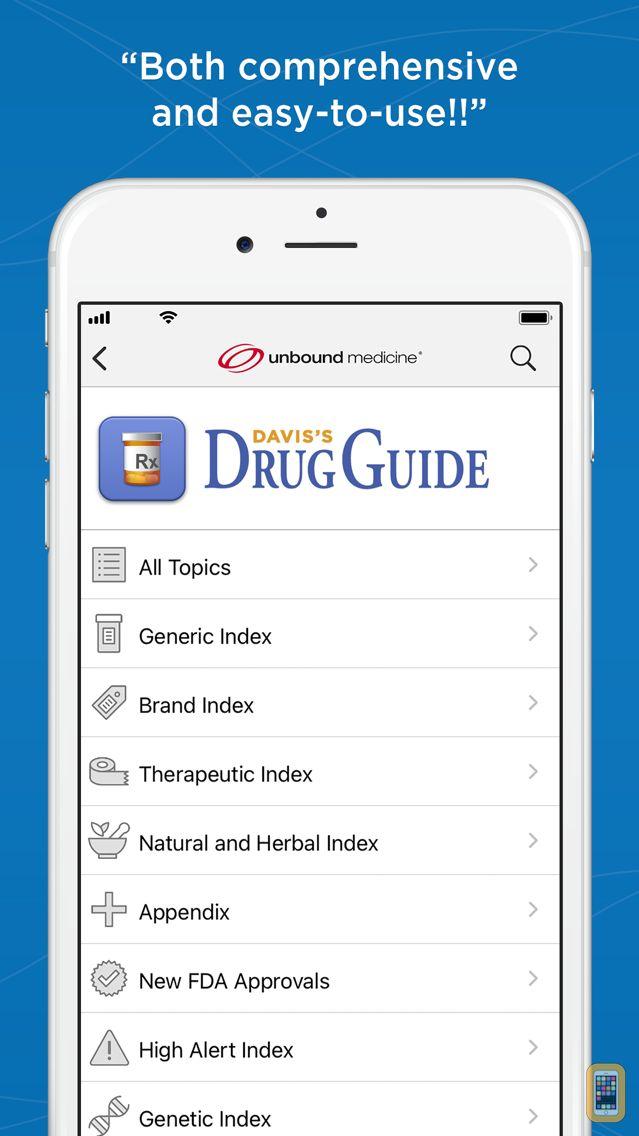 Screenshot - Davis's Drug Guide