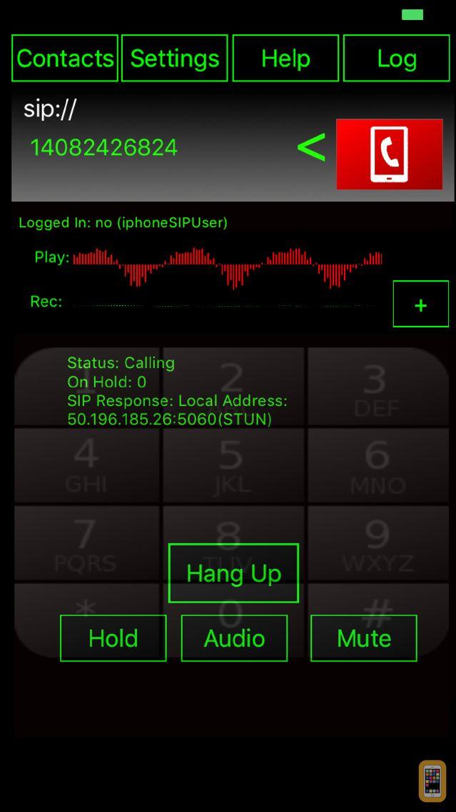 Screenshot - WeePhone SIP