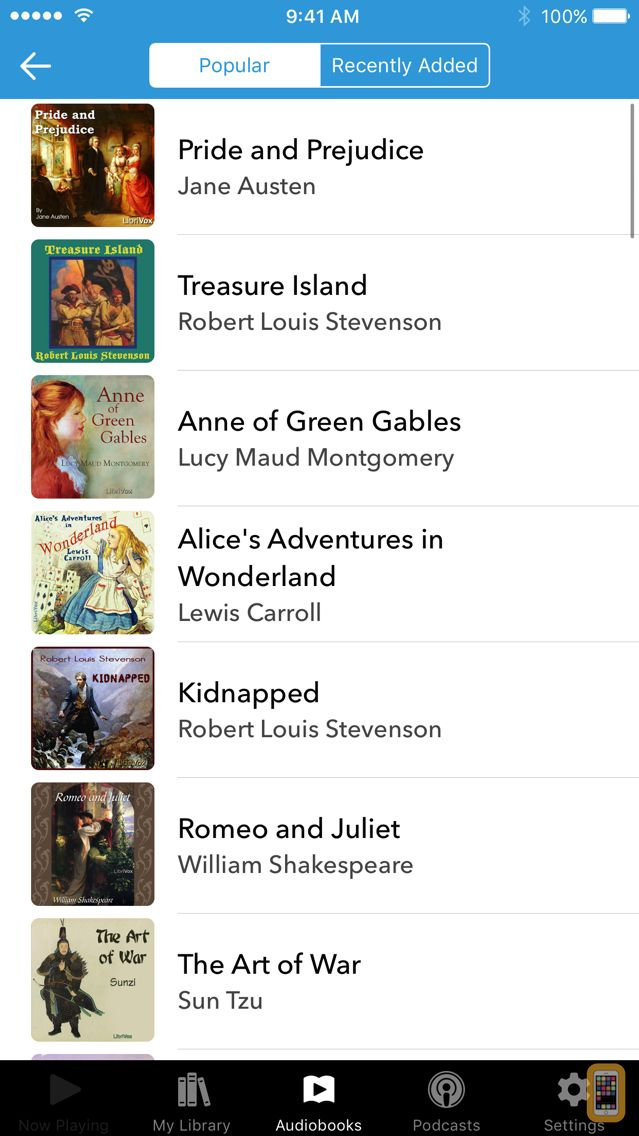 Screenshot - Audiobooks