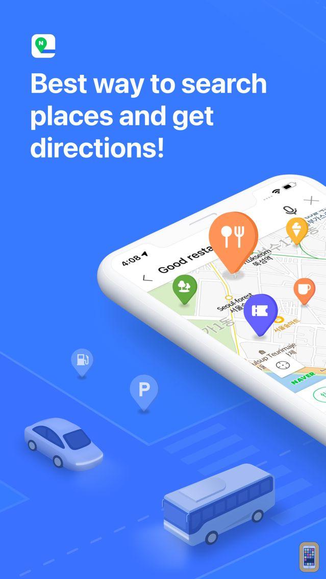 Screenshot - NAVER Map, Navigation
