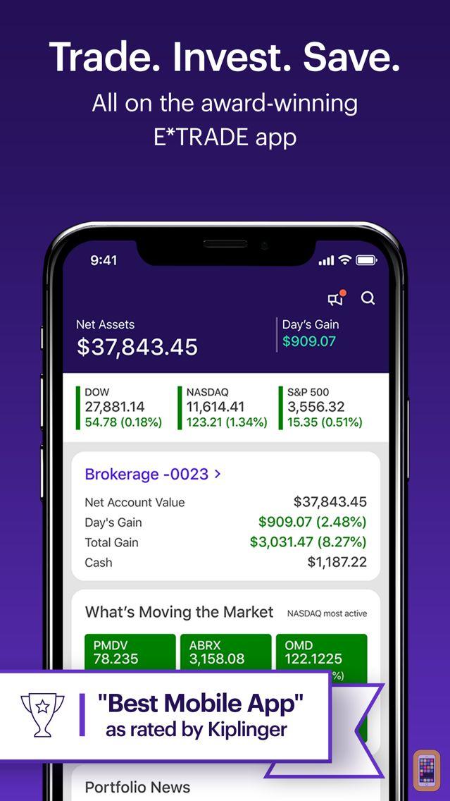 Screenshot - E*TRADE: Invest. Trade. Save.