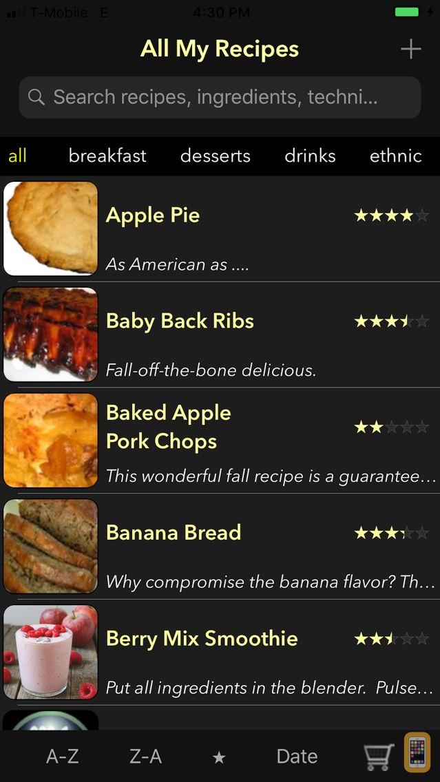 Screenshot - All My Recipes