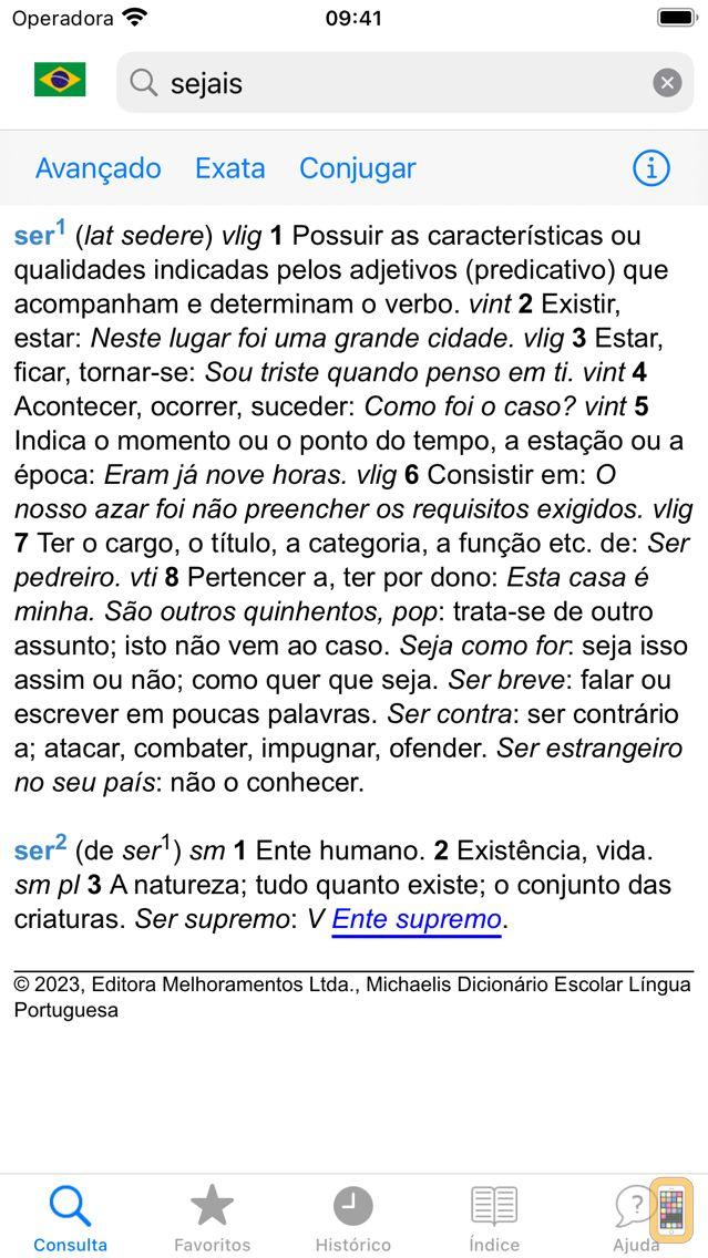 Screenshot - Michaelis Escolar Português
