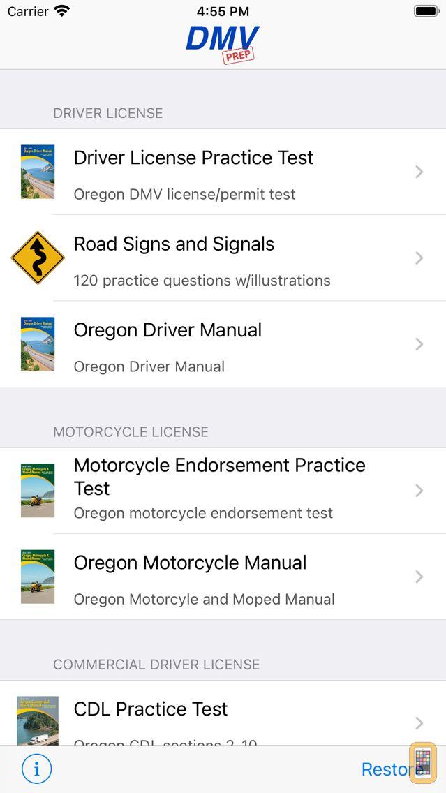 Screenshot - Oregon DMV Test Prep