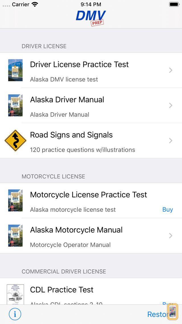 Screenshot - Alaska DMV Test Prep