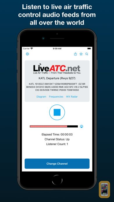 Screenshot - LiveATC Air Radio