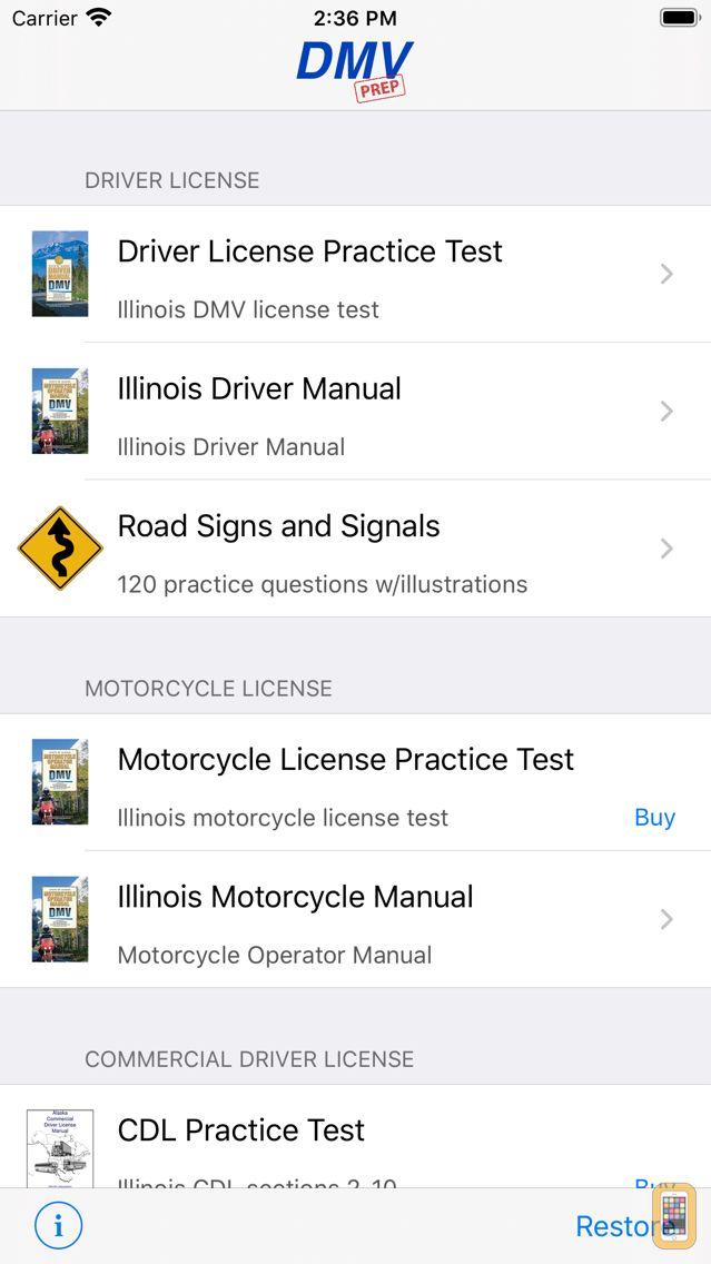 Screenshot - Illinois DMV Test Prep
