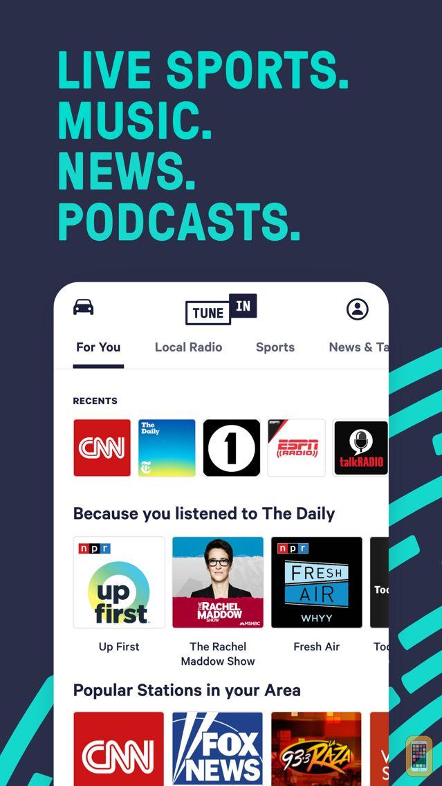 Screenshot - TuneIn Pro - Radio & Sports