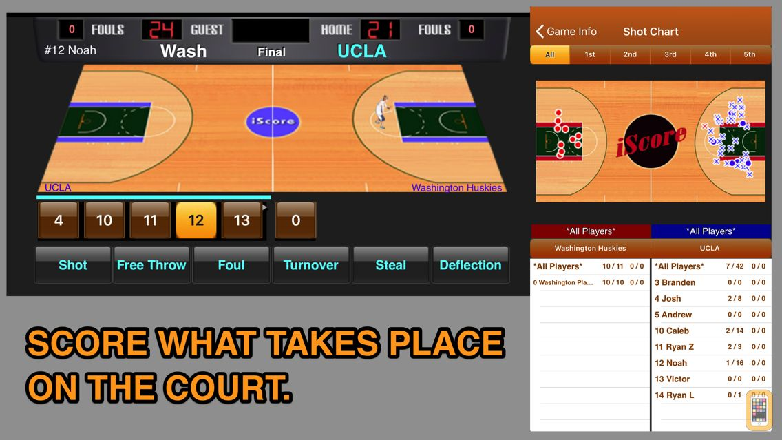 Screenshot - iScore Basketball Scorekeeper