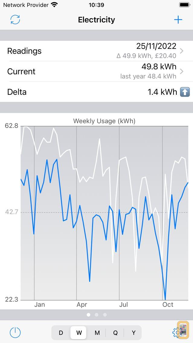 Screenshot - Meter Readings