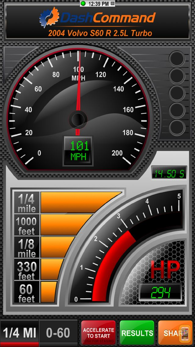 Screenshot - DashCommand - OBD-II Gauges