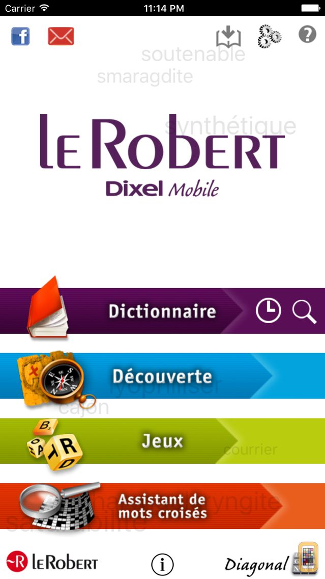 Screenshot - French dictionary DIXEL Mobile