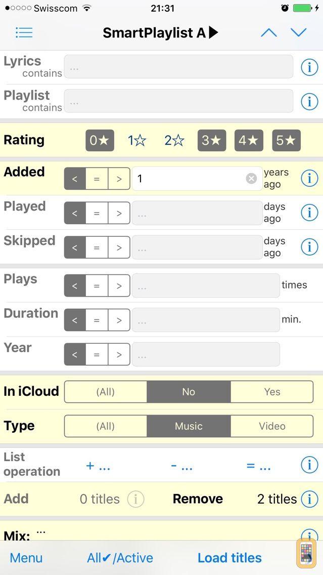 Screenshot - SmartPlaylist