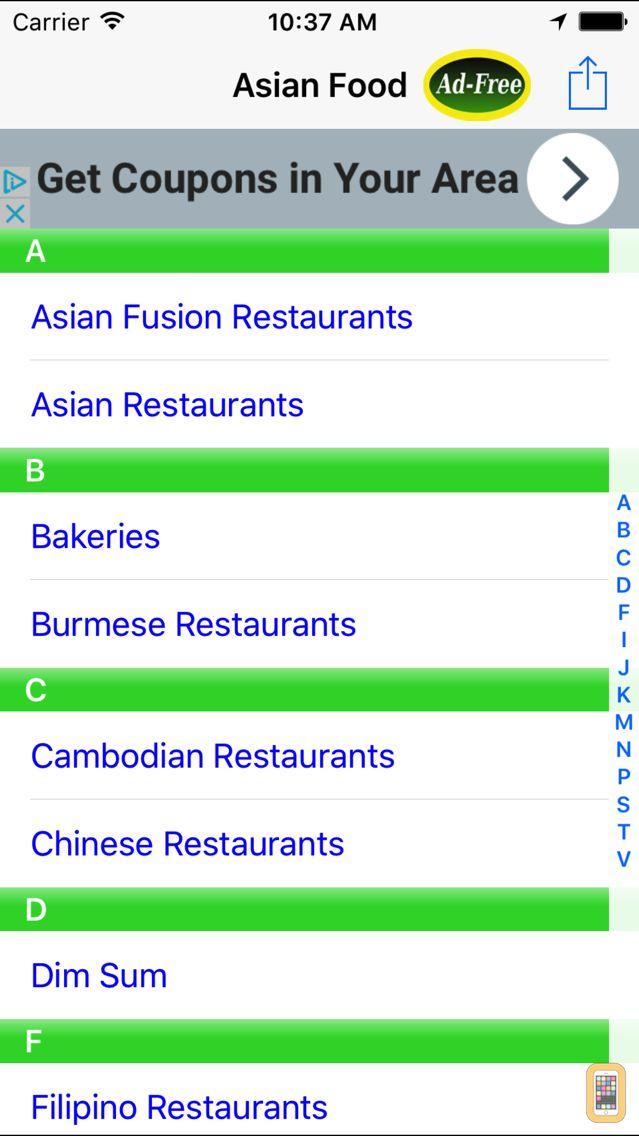 Screenshot - Asian Food Restaurant Finder Nearby