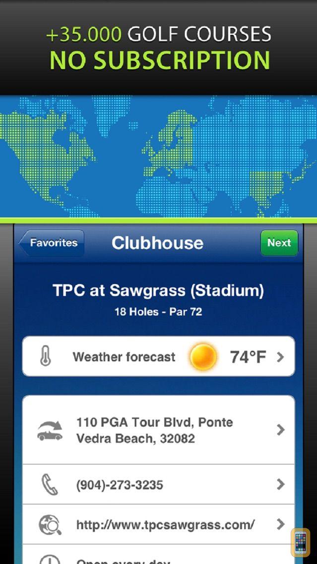 Screenshot - Mobitee Golf GPS and score