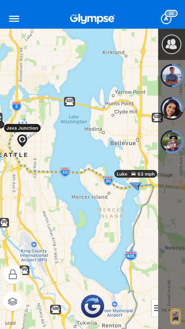 Screenshot - Glympse -Share your location