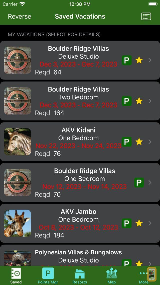 Screenshot - DVC Planner