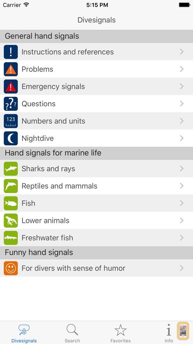 Screenshot - Dive Signals