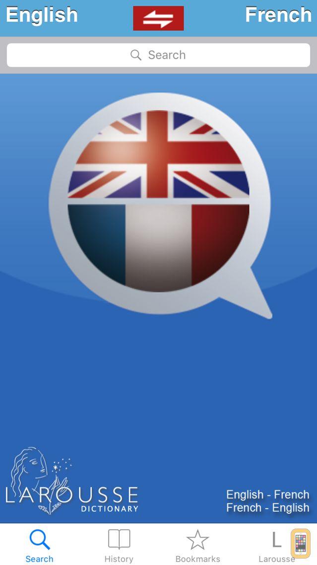 Screenshot - English / French dictionary