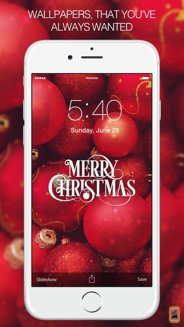 Screenshot - Christmas Wallpapers - Xmas tree, cards, light, santa & more Images