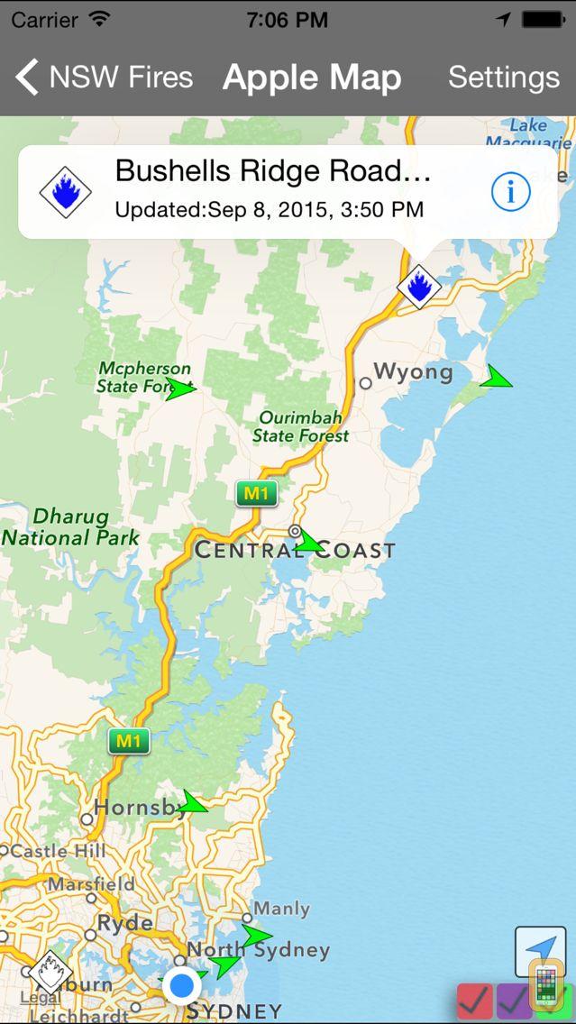 Screenshot - NSW Fires