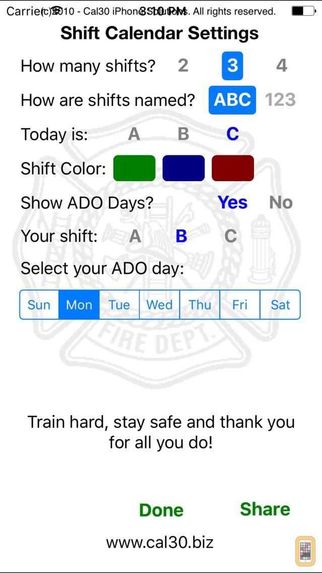 Screenshot - Shift Calendar