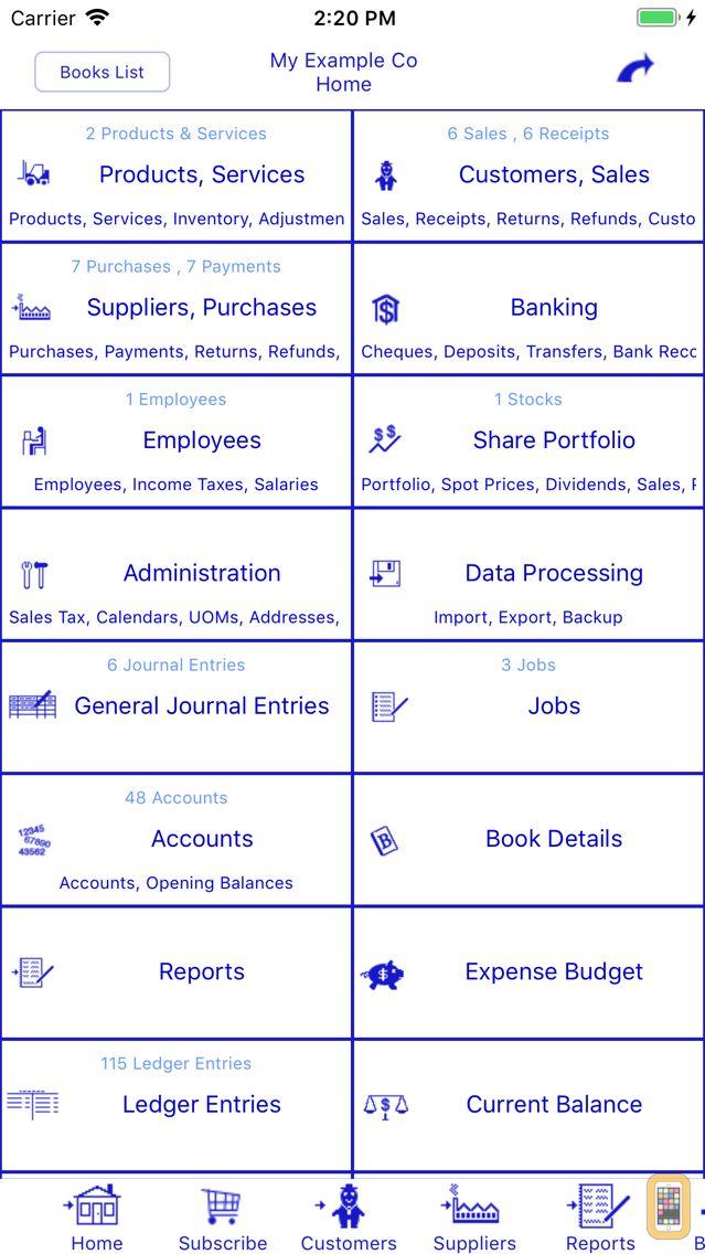 Screenshot - Bookkeeping