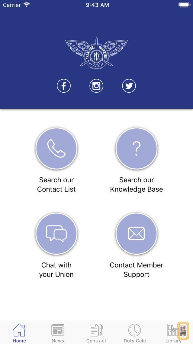 Screenshot - TWU556 Connect