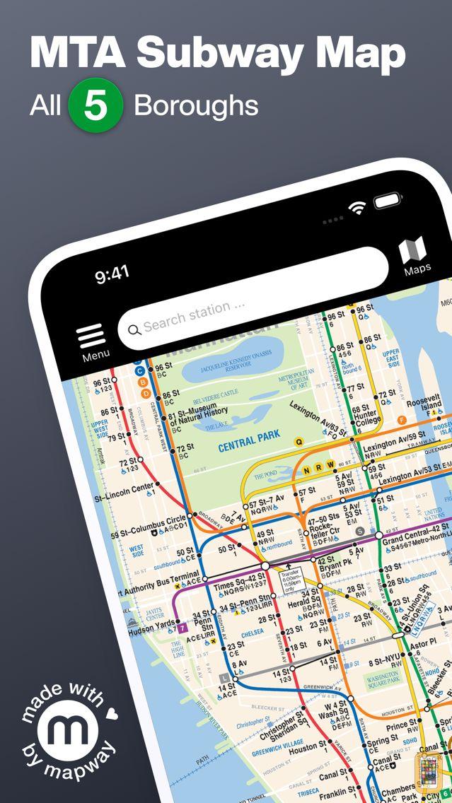 Screenshot - New York Subway MTA Map