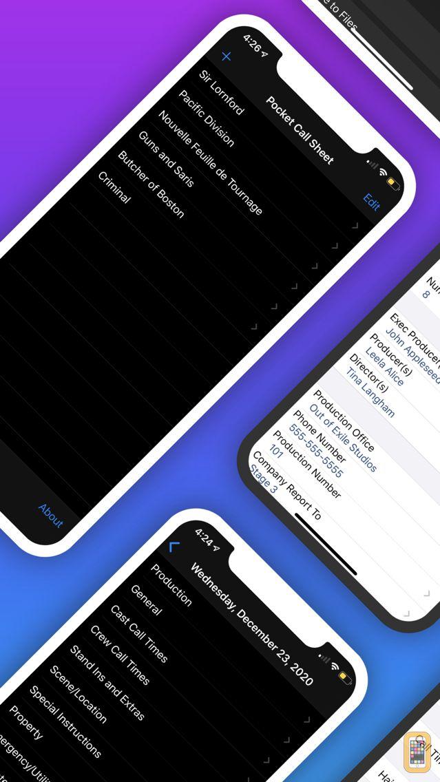 Screenshot - Pocket Call Sheet