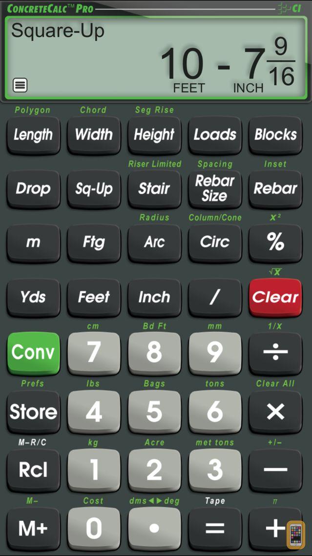 Screenshot - ConcreteCalc Pro