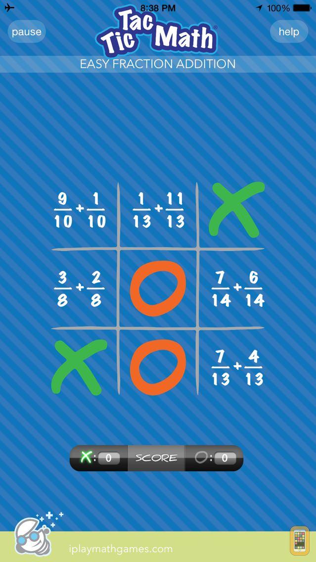 Screenshot - Tic Tac Math Fractions