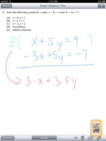 Screenshot - Algebra Pro - Complete Workbook with ShowMe Lessons