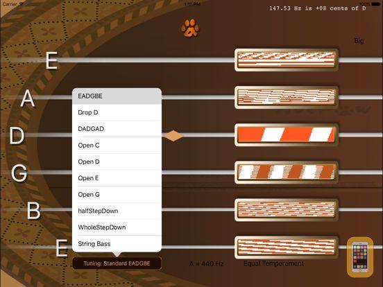 Screenshot - inTuna Strobe Guitar Tuner HD