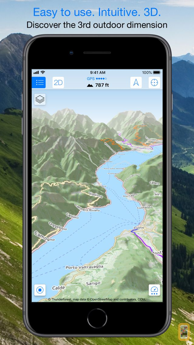 Screenshot - Maps 3D PRO - Outdoor GPS
