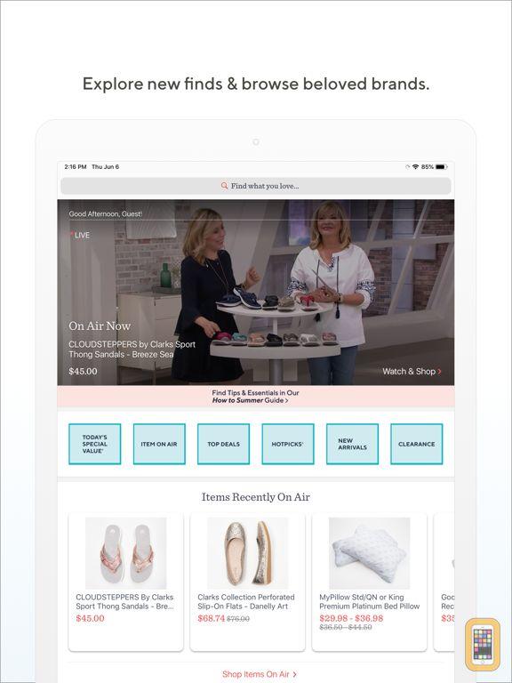 Screenshot - QVC for iPad