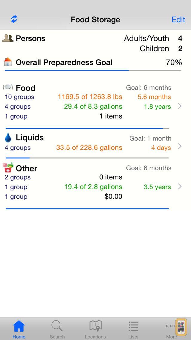 Screenshot - Home Food Storage