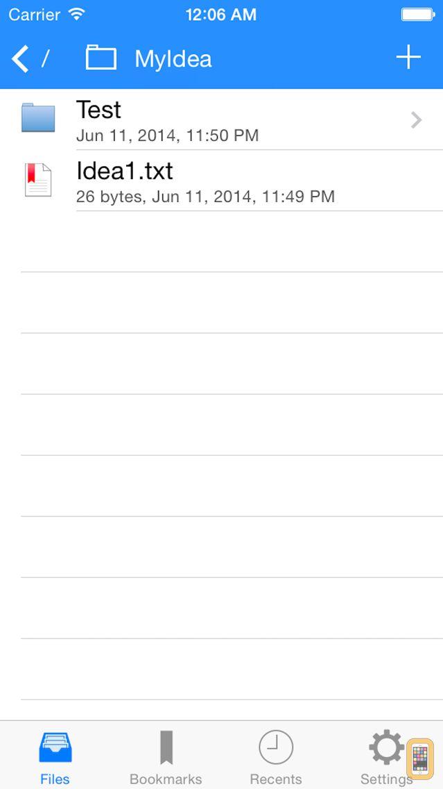 Screenshot - Textforce - Text Editing for Dropbox