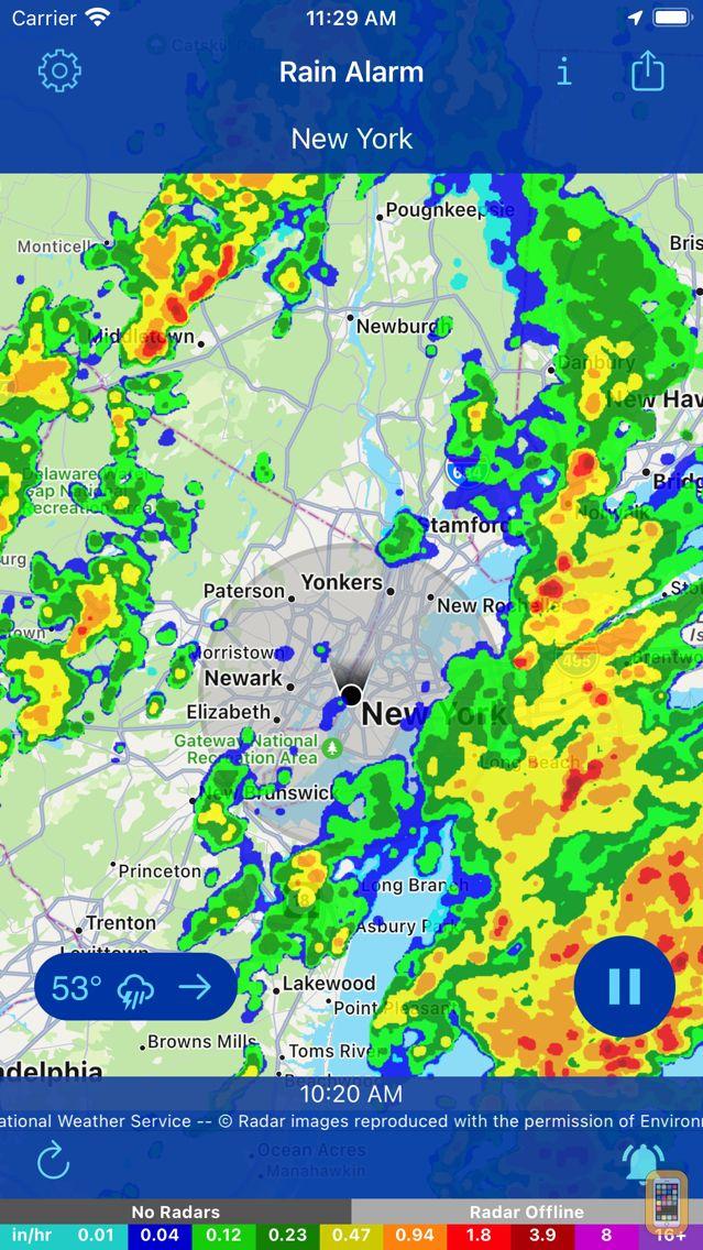 Screenshot - Rain Alarm - Weather Radar
