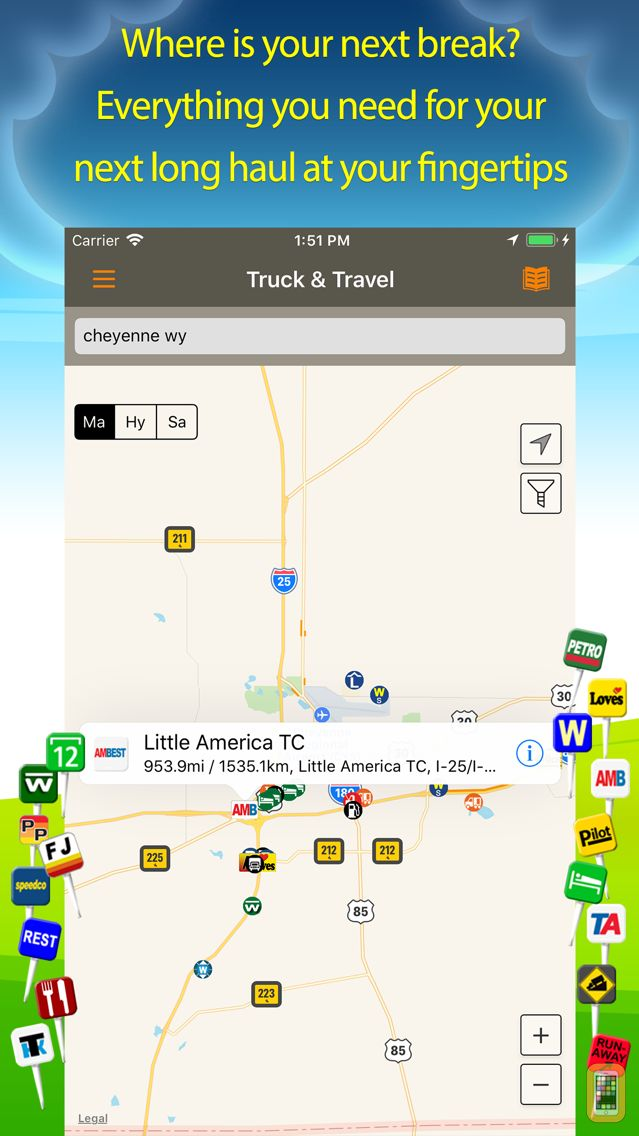 Screenshot - Truck Stops & Travel Plazas