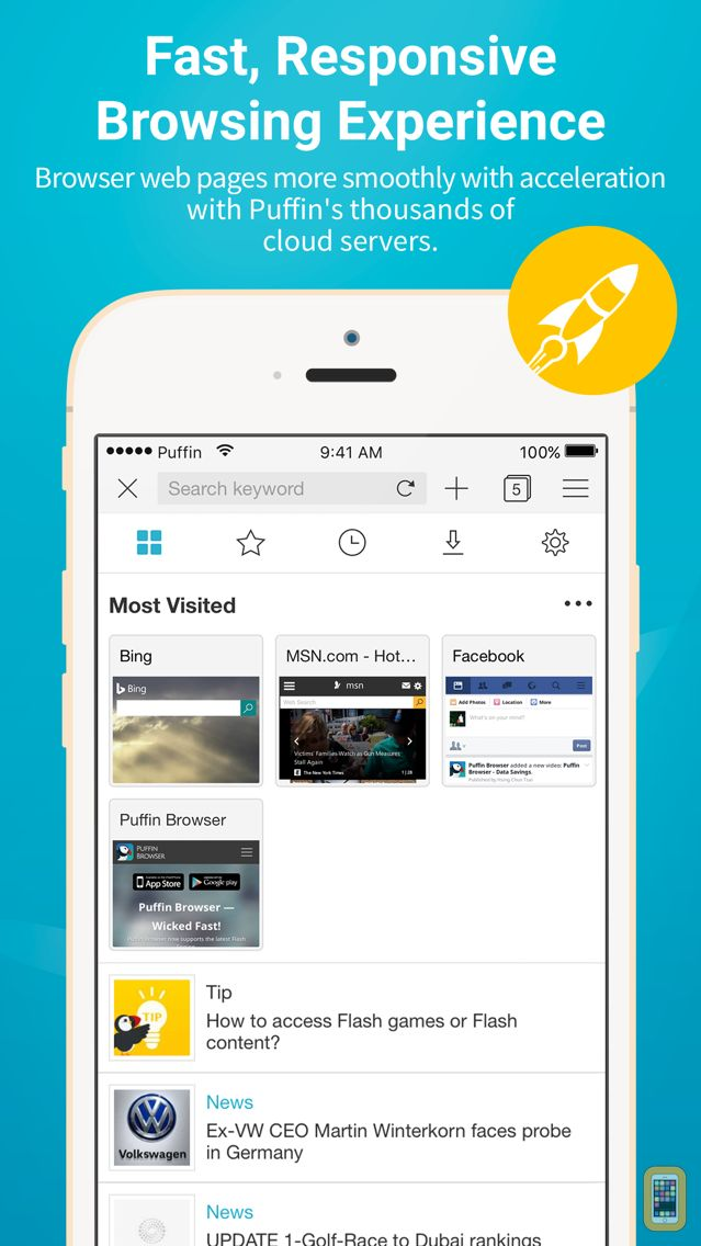 Screenshot - Puffin Cloud Browser