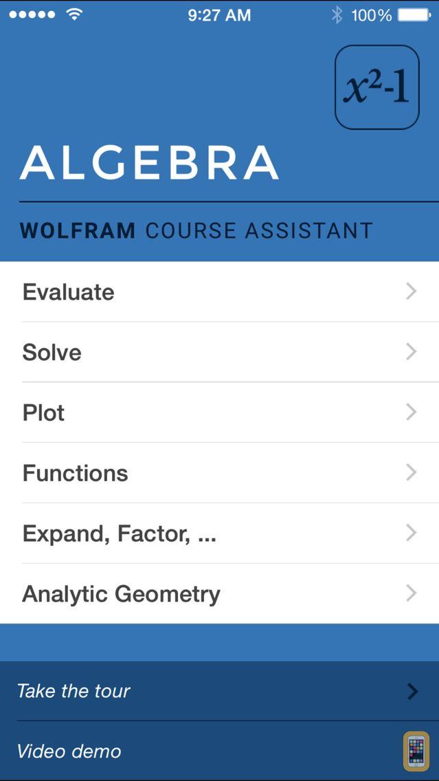 Screenshot - Wolfram Algebra Course Assistant