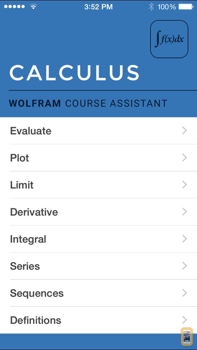 Screenshot - Wolfram Calculus Course Assistant