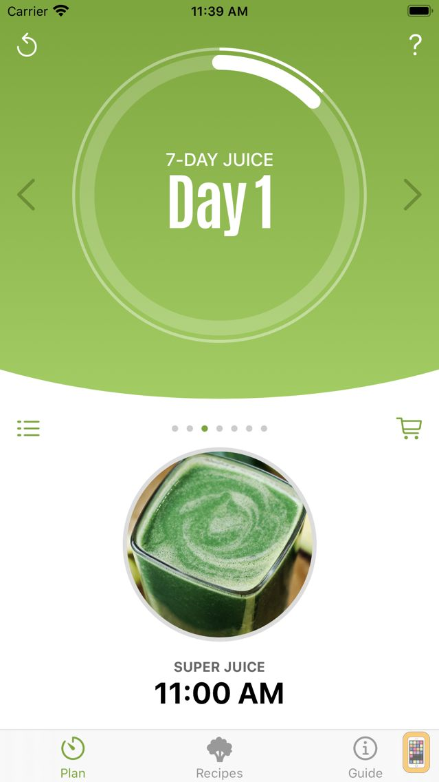 Screenshot - Jason's 7-Day Juice Challenge