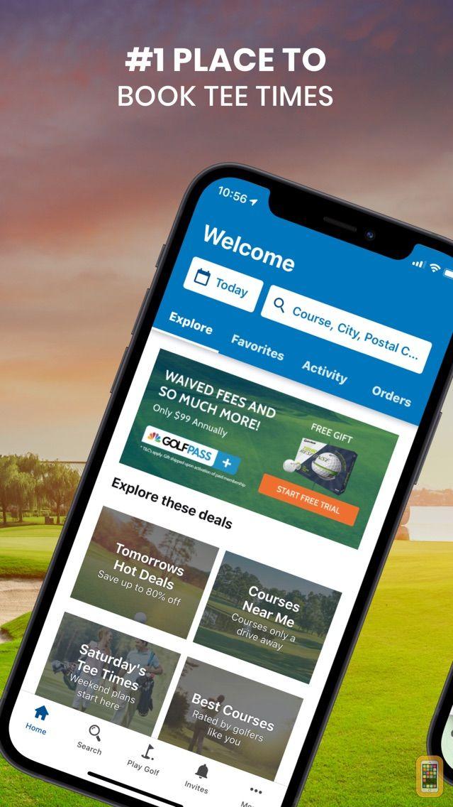 Screenshot - GOLFNOW Book TeeTimes Golf GPS