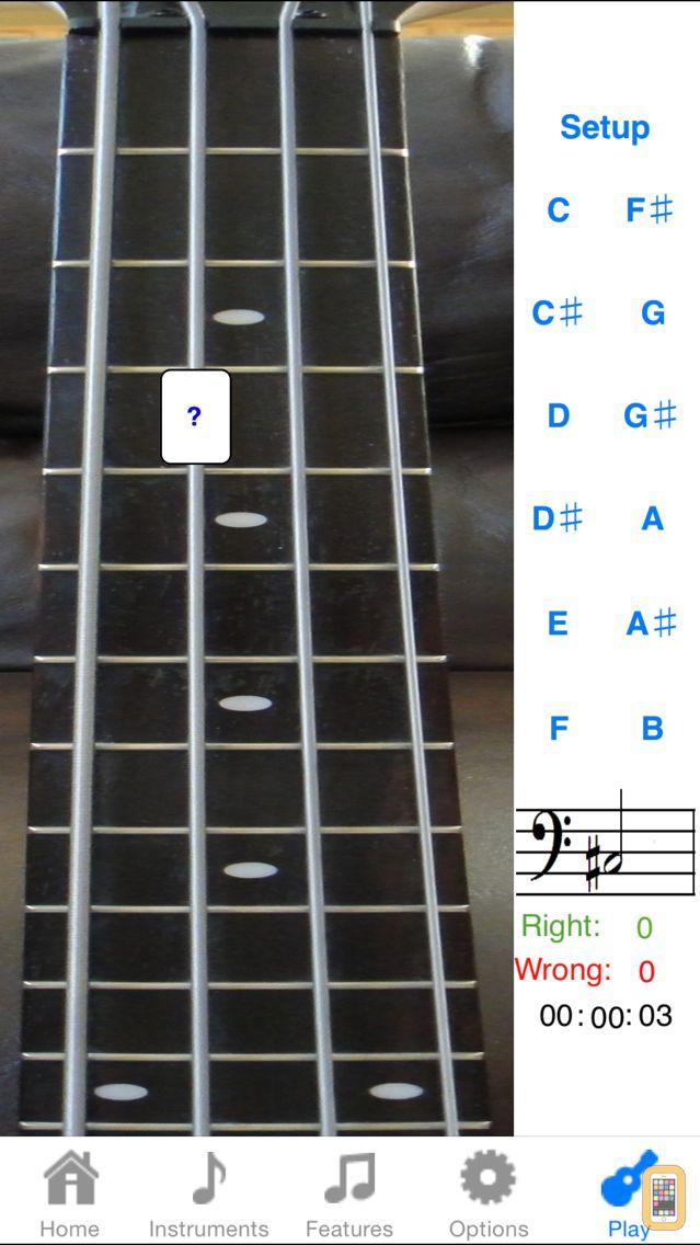 Screenshot - Bass Fretboard Addict