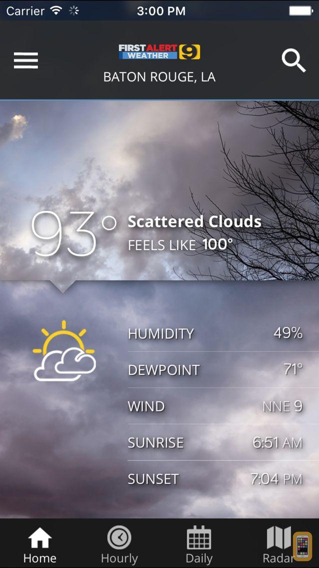 Screenshot - WAFB First Alert Weather