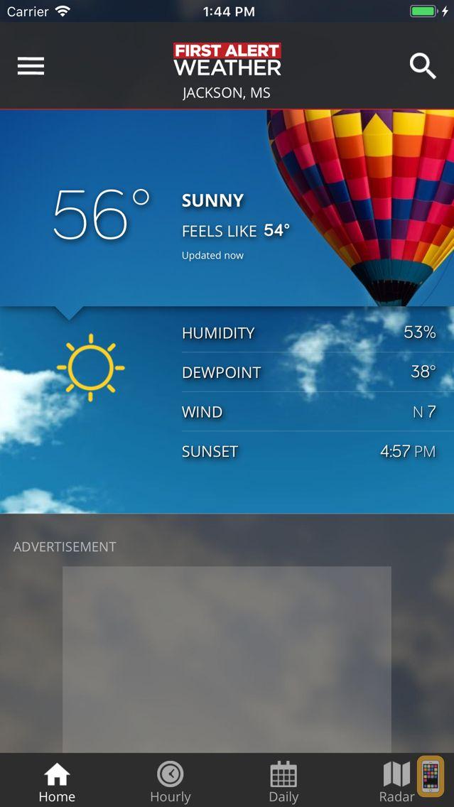 Screenshot - First Alert Weather