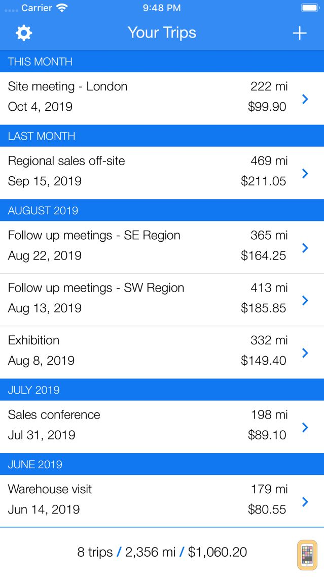 business trip tracker a simple mileage log for iphone app info