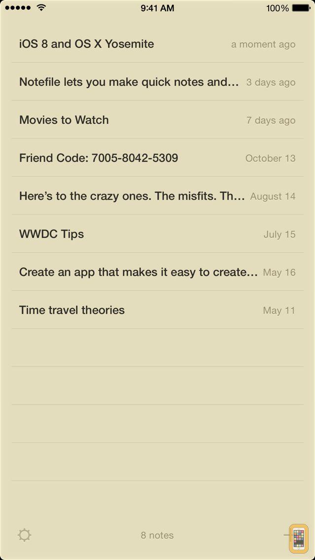 Screenshot - Notefile